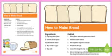 Bread Recipe Sheets