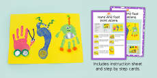Hand And Foot Print Aliens Craft Instructions