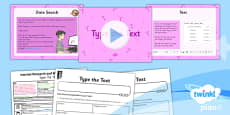 PlanIt - Computing Year 5 - Internet Research and Webpage Design Lesson 3: Type the Text Lesson Pack