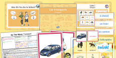 PlanIt - French Year 4 - On the Move Lesson 1: Transport Lesson Pack