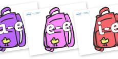 Modifying E Letters on Backpacks