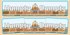 Humpty Dumpty Display Banner