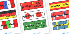 Goodbye Languages On Flags