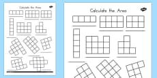 Calculate the Area Worksheets