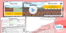 PlanIt - Art KS1 - LS Lowry Lesson 4: Buildings Lesson Pack