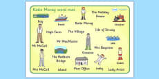 Word Mat to Support Teaching on Katie Morag