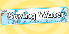 Saving Water Display Banner