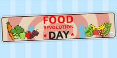 Australia - Food Revolution Day Display Banner
