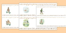 Beatrix Potter - The Story of a Fierce Bad Rabbit Alphabet Strips