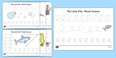 The Little Fish Pencil Control Sheets