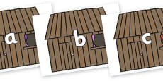 Phase 2 Phonemes on Wooden Houses