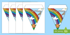 * NEW * Days of the Week Display Bunting English/Welsh
