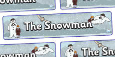 Display Banner to Support Teaching on The Snowman