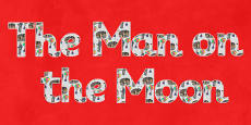 Man on the Moon Title Display Lettering