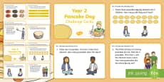 Year 2 Pancake Day Maths Challenge Cards