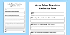 Active Committee Application Form