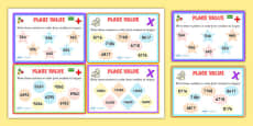Place Value Number Sorting Maths Challenge Cards