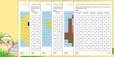 Easter Phonics Phase 3 Mosaic Activity Sheet