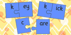 k And Vowel Production Jigsaw Cut Outs