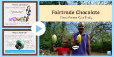 KS2 World Fairtrade Day Cocoa Farmer Case Study Activity PowerPoint