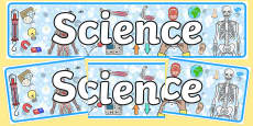 Sciences Curriculum For Excellence Display Banner