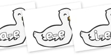 Modifying E Letters on Mother Duck
