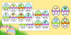 Phase 4 CVC Words Easter Egg Matching Activity