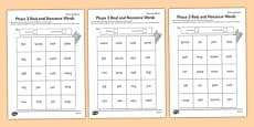 Phase 3 Colour by Phoneme Real and Nonsense Words Activity Sheet Pack