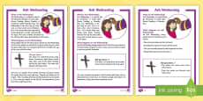 * NEW * KS1 Ash Wednesday Differentiated Fact File