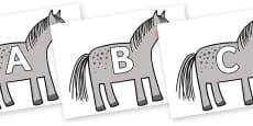 A-Z Alphabet on Horse to Support Teaching on What the Ladybird Heard