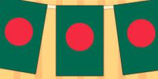Bangladesh Flag Display Bunting