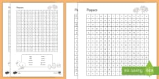 Easter Differentiated Word Search Medium Ability French