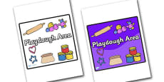 Playdough Area Sign