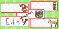 Chinese New Year Story Editable Drawer Peg Name Labels