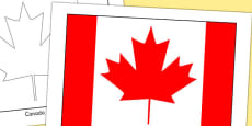 Canada Flag Display Poster