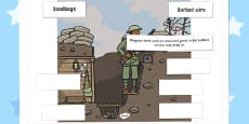 World War One - World War One Trench Labelling Activity Sheet