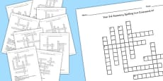 Year 5-6 Statutory Spelling List Crossword Pack