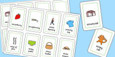 Three Syllable STR Flash Cards