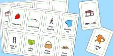 Three Syllable STR Flash Cards