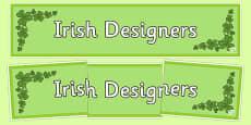 Irish Designers Display Banner