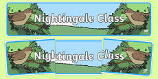 Nightingale Themed Classroom Display Banner