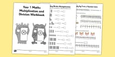 Year 1 Maths Multiplication and Division Workbook
