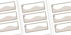 Deer Themed Editable Drawer-Peg-Name Labels (Colourful)