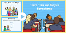 There, Their and They're Homophones PowerPoint