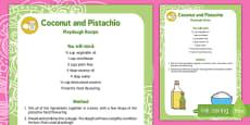 Coconut and Pistachio Playdough Recipe