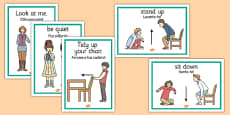 Classroom Instructions Display Posters Portuguese Translation