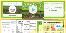 * NEW * PlanIt Spelling Year 5 Term 3B W5: Converting Nouns or Verbs to Adjectives Using the Suffix  -ive Spelling Pack