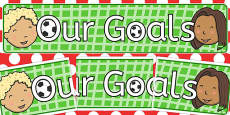 Our Goals Display Banner