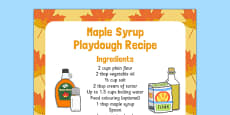 Maple Syrup Playdough Recipe