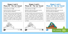Linguistic Phonics Stage 5 and 6 Phase 3b, 'aw' Sound Activity Sheet